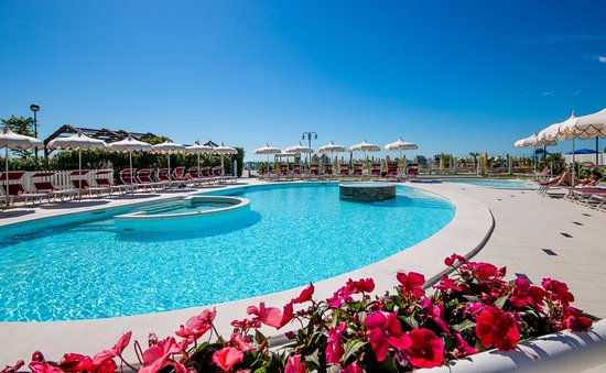 Baia del Mar Beach Boutique Hotel : View of the flowers that decorate our pool.