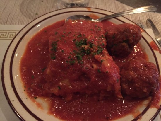 Gallitzin, PA: Lasagna and Ravioli Smothered in sauce!