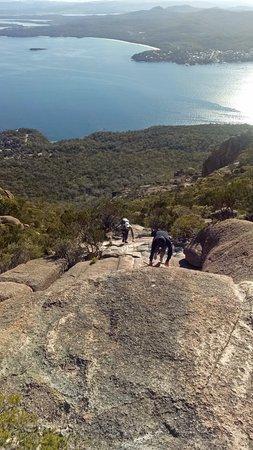 Coles Bay, Australia: climb climb climb