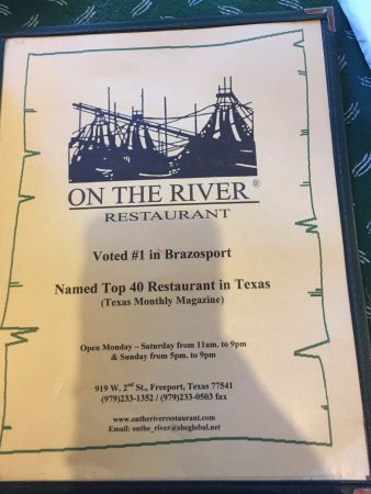 On The River Restaurant: Theres a reason they're #1