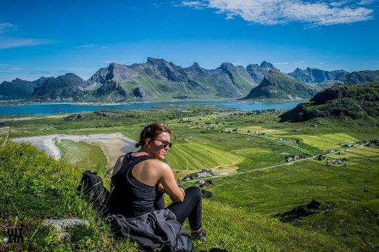 Fredvang, Norge: Toller Rastplatz nach cirka 30 Wanderminuten