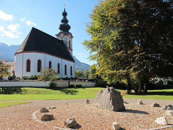 Grossgmain, Austria: Vista da Marienwallfahrtskirche