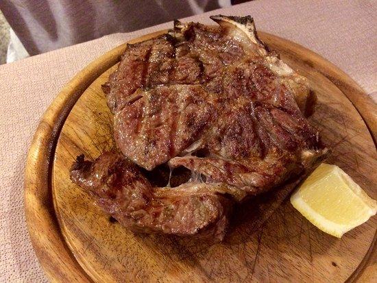 Osteria Gloria: Bistecca di manzo alla brace