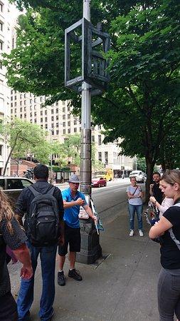 Seattle Free Walking Tours : Jake in action ;)
