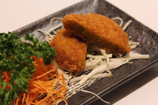 Great Dunmow, UK: Pumpkin Croquette (Vegetarian option)