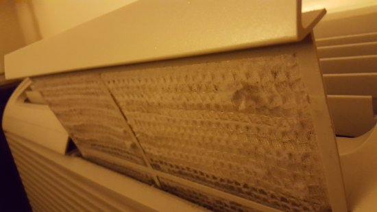 Artmore Hotel: Yes, that is dust and junk peeling off the filter.