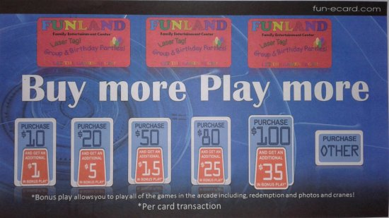 Long Beach, WA: Bonus Play - what a great deal! Per card transaction only. Open 10-10 or later every day! #Funla
