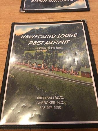 Newfound Lodge Restaurant In Cherokee Nc