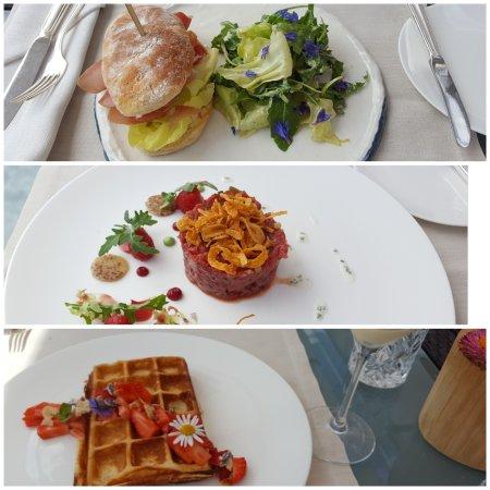 Hotel Paradies: Kartoffelbrot, Tatar, Topfenwaffel_large.jpg