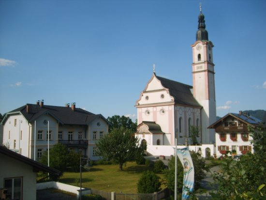 Flintsbach, เยอรมนี: Aussicht aus dem Bad