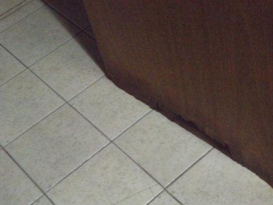 Hotel Cordon del Plata: Puerta del baño podrida