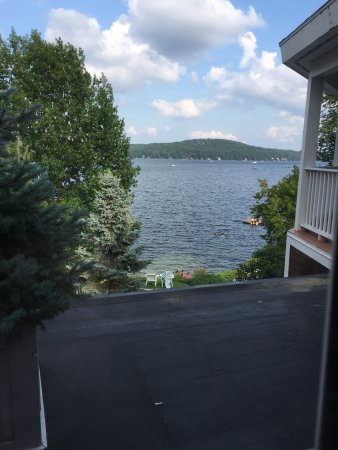 Church Landing at Mill Falls: View of the lake from the library.