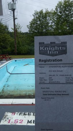 Liberty, NY: I wanted to swim, she lied and said pool is open. look at this date and photo.