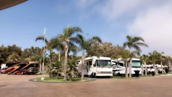 Ventura Beach Rv Resort Pull Through Sites Premier At The End