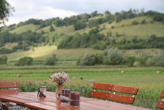 Agnita, Romania: Taki widok towarzyszył nam przy obiedzie