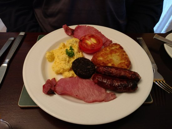 "Woodlands House: Hubby, on the other hand selected ""The Full Irish"" for his breakfast with scrambled eggs."