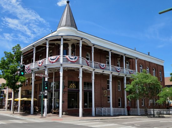 The historic Weatherford Hotel is a block from the Amtrak depot.