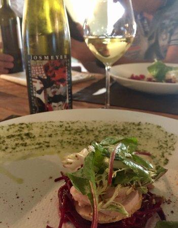 Schlierbach, France : Betterave, foie gras et lapin !