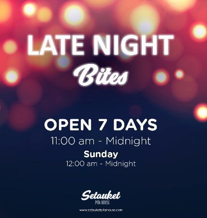 East Setauket, Nowy Jork: Late night bites