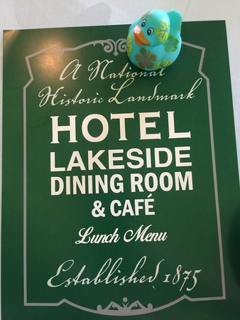 Hotel Lakeside: Dining room and view of lobby