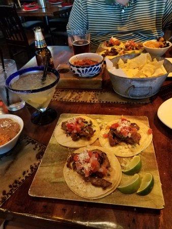 Diablo's Cantina: Diablo's Signature Steak tacos, chips & salsa