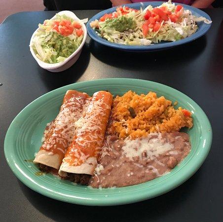 Copperhill, TN: Tostada, Guacamole & Chalupa Salad with Enchilada, Burrito & Rice and Beans