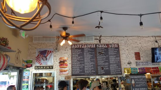 San Mateo, Californien: the menu