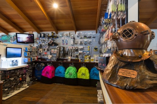 Whitianga, New Zealand: Go Pro, catch bags and many other dive accessories