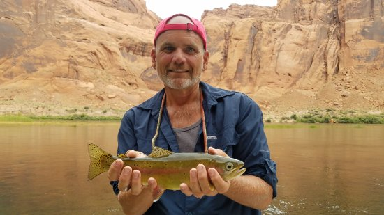 Marble Canyon, AZ: Fishin' wih Mike