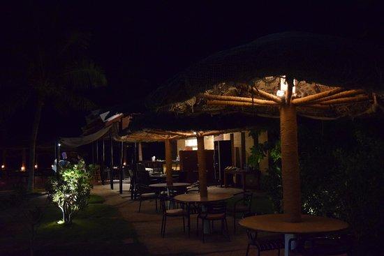 Bay View Point : The hut kind of arrangement inside restaurant..