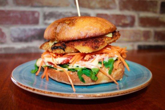 Nerang, Australia: Chicken Schnitzel Burger