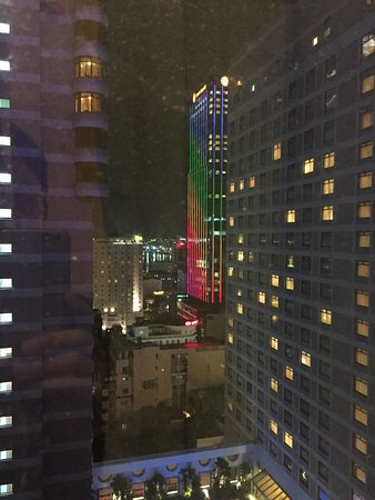 Caravelle Saigon: night view of Times Square building