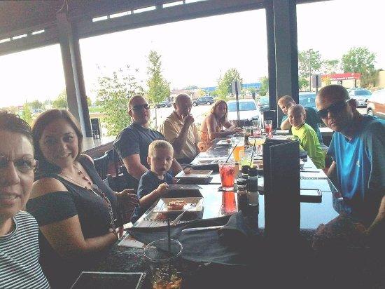 Canton, MI: Our family celebrating our son Seth's 28th bday!