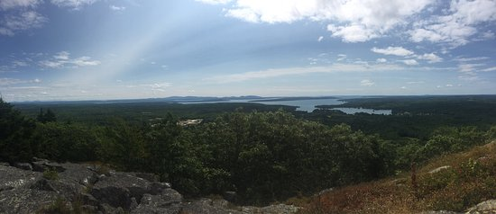 Blue Hill, ME: View from the top of the summit trail (you can see up to mount desert island on the left!)
