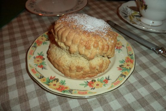 Ballantrae, UK: Biggest and best scone ever.