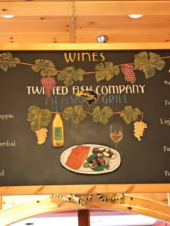 Twisted Fish Company Alaskan Grill : Cute artistic chalkboards