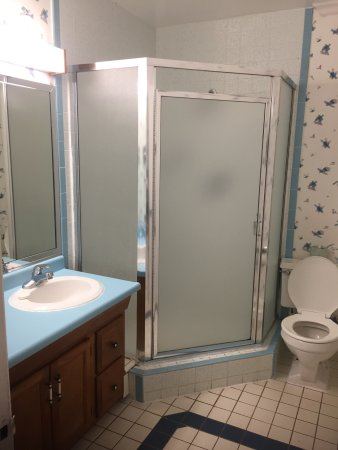 Nob Hill Motor Inn: Outdated and moldy bathroom
