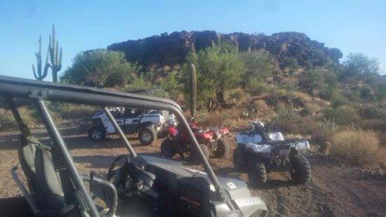 Arizona Outdoor Fun: ATV tour stop at Indian ruins.