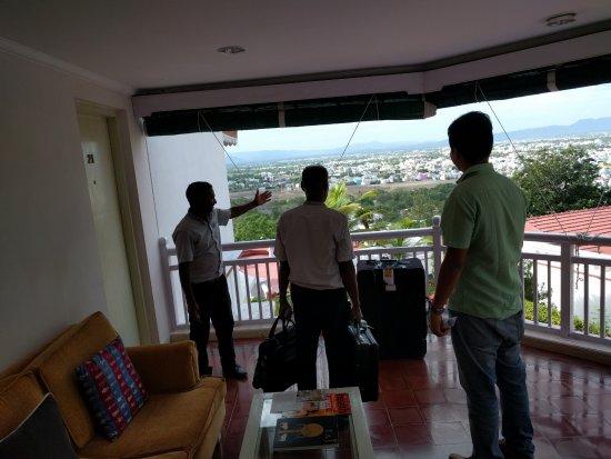 The Gateway Hotel Pasumalai Madurai : A deck, and an AMAZING view!