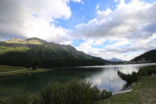 Restaurant Waldhaus am See : Aussicht auf den Sr. Moritzersee