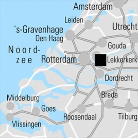 Lekkerkerk, The Netherlands: Regional Map