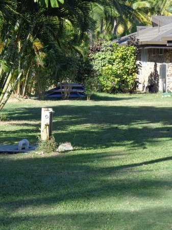 Plantation Island Resort: Septic tanks between the accommodation