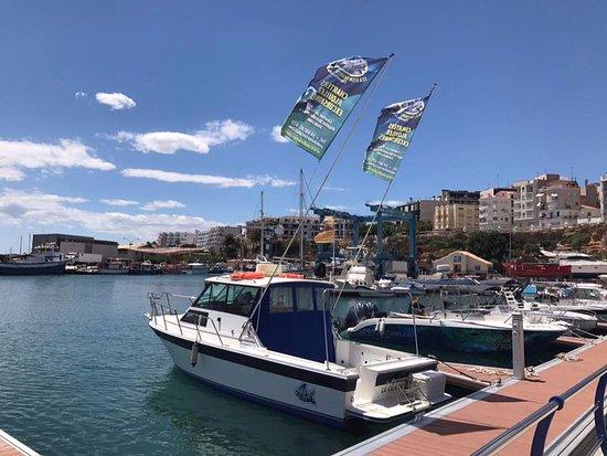 L'Ametlla de Mar, Spanyol: Nos situamos en la parte nueva del puerto pesquero, zona dedicada a los deportes náuticos.