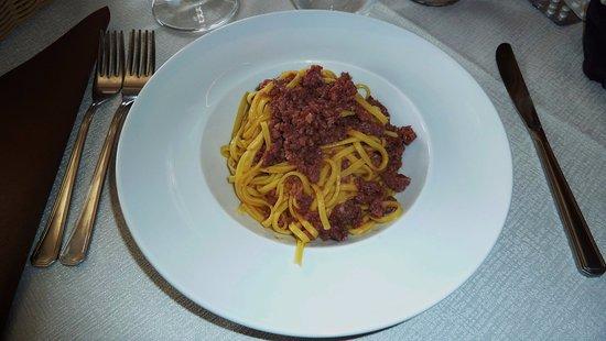 Coggiola, Italie : Tagliolini con salsiccia