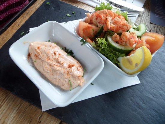 Kings Head Holt B&B: Crayfish salad and dip