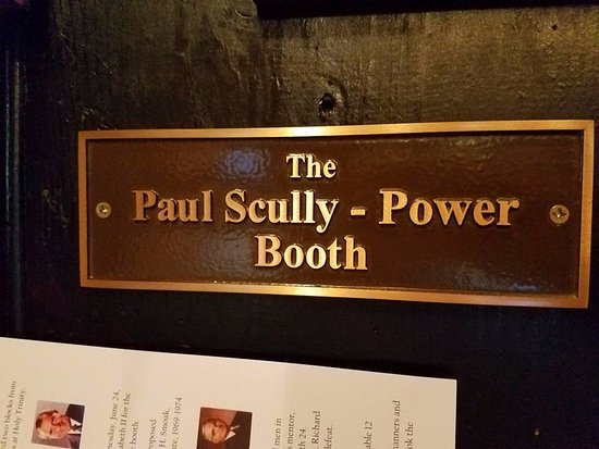 Martin's Tavern: Paul Skully-Power Booth sign.