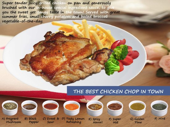 The Best Chicken Chop In Town Carson Grill Western Cuisine