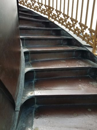 Church Of Our Saviour: The Exterior Metal Steps Get Narrower The Closer You  Get To