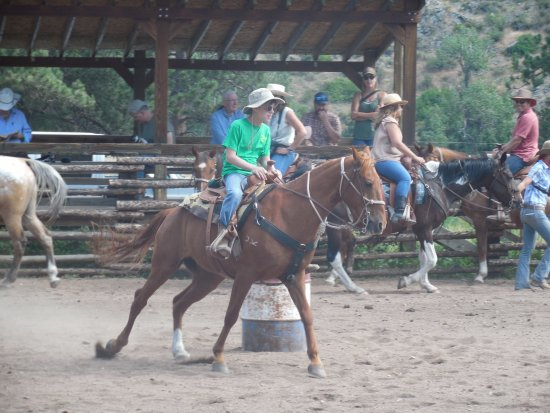 Livermore, CO: My 14 year old in barrel racing. How often can you say that?