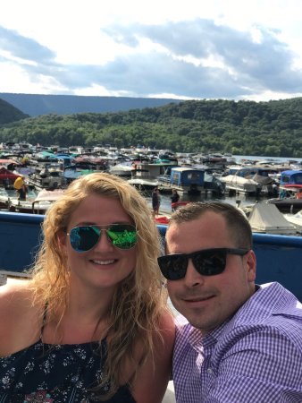 Entriken, PA: View from atop the boat during dinner cruise